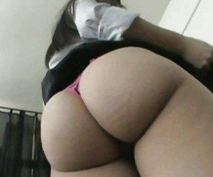 Big ass upskirt fuck