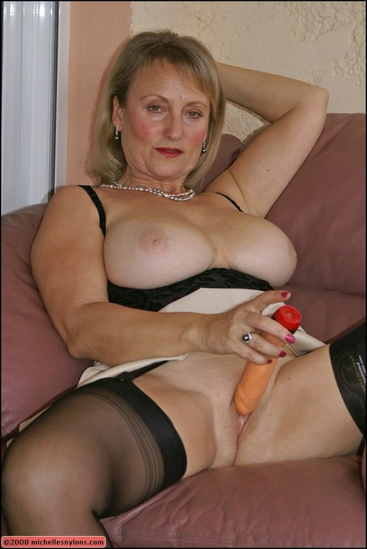 best of Mature Big with dildos tits