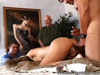 best of Gets wifes Husband friends for naked