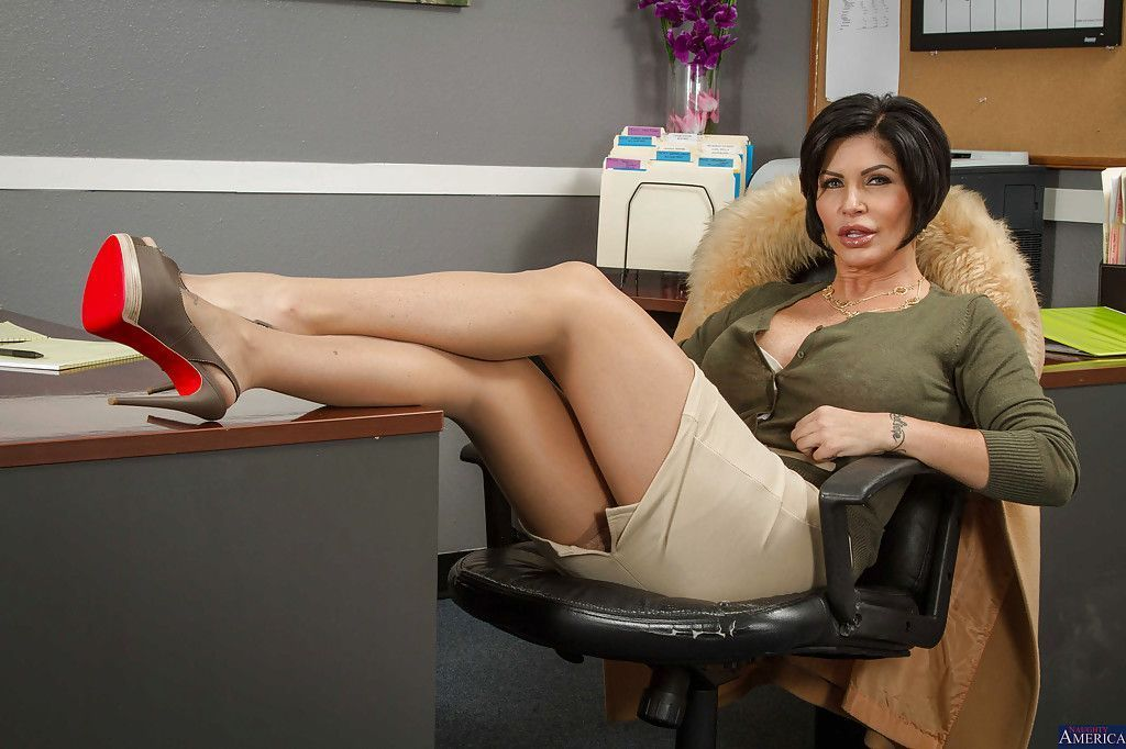best of Brunette girls Busty office