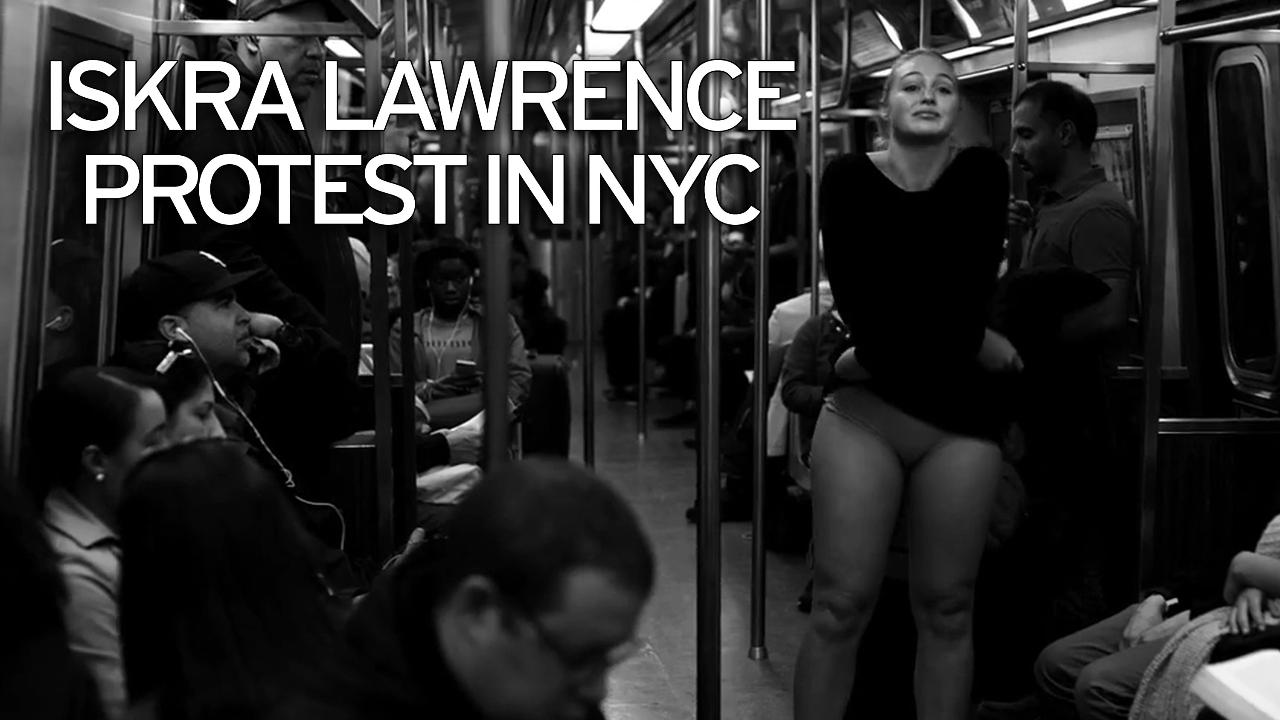 Girls strip on ny subway