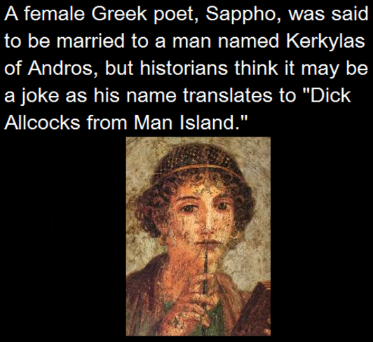 ZB reccomend First st greek poet lesbian