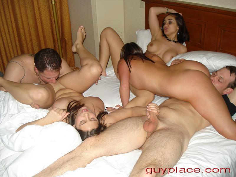 Wife swapping party nude