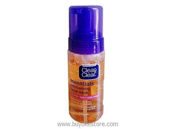 Boomerang reccomend Clean & clear foaming facial wash