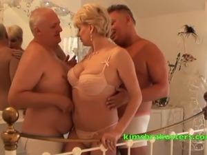Pool Boy Fucks Mature Blonde Babe After Getti. Mature adult video