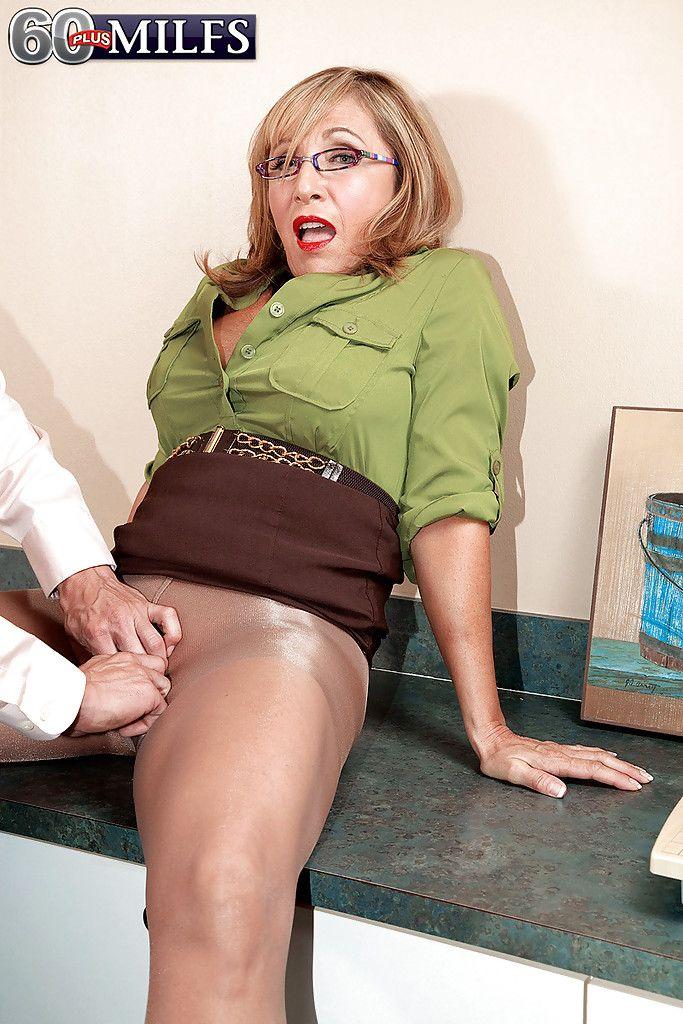 best of Grandmother Shiny pantyhose sex