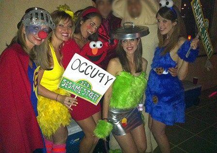 Adult costume halloween sesame street