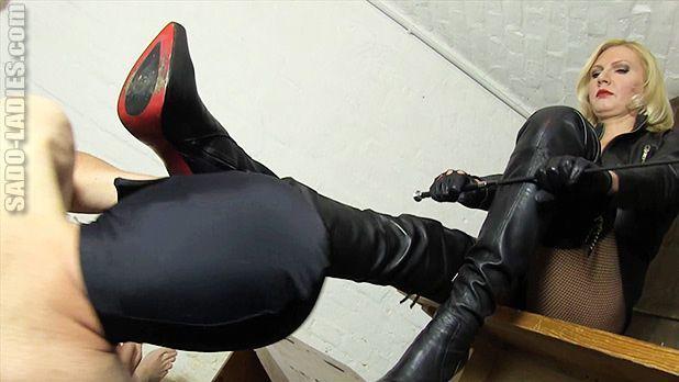 Boot licking femdom