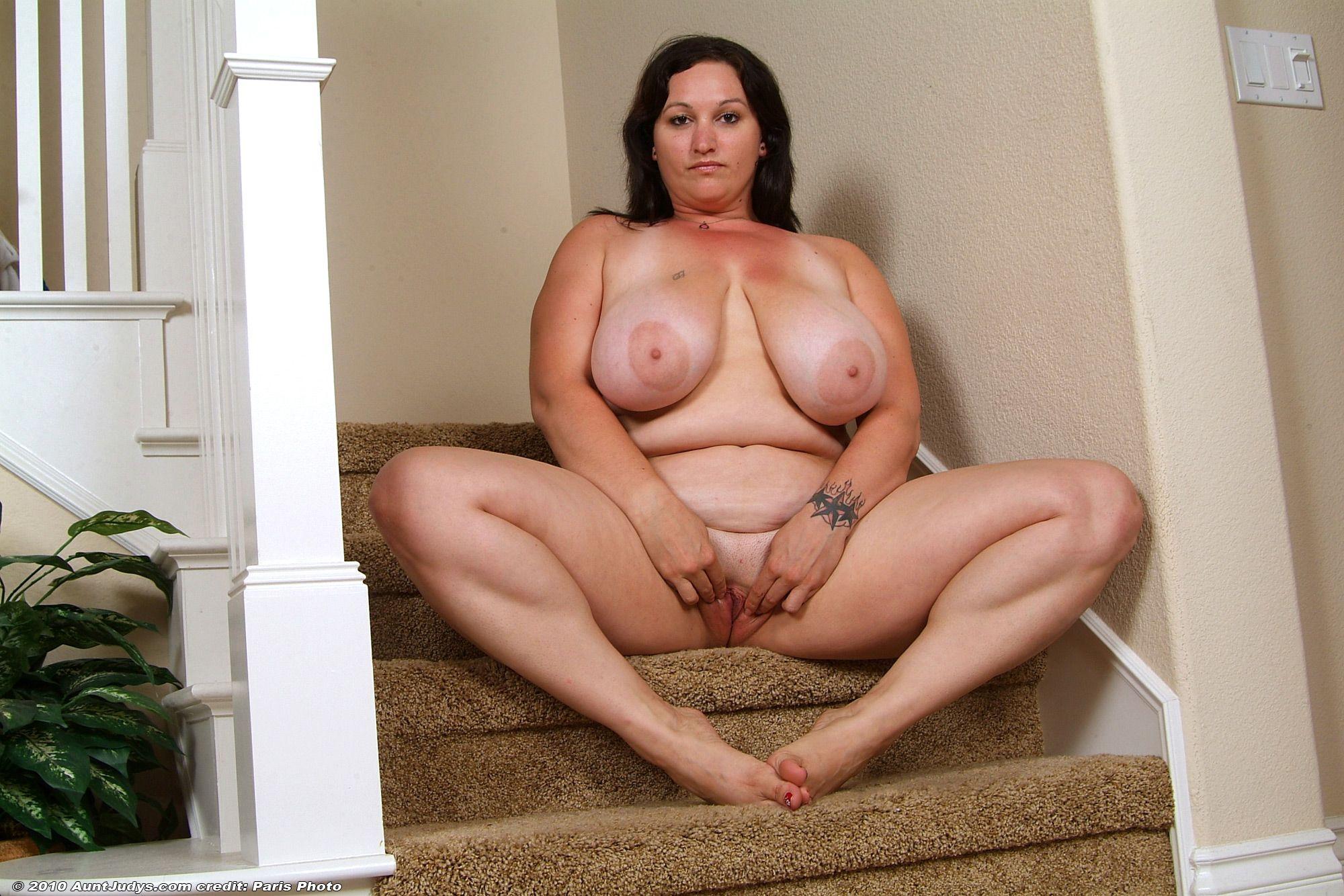 Chubby old boobs