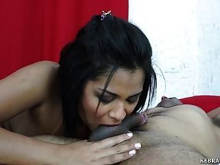 Asian riding on couch