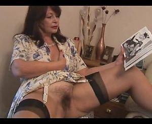 Jumbo reccomend Busty Brunette. Mature xxx video