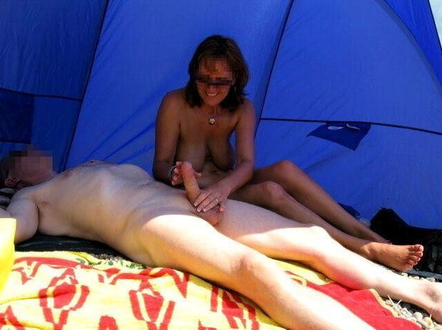 asian beach handjob