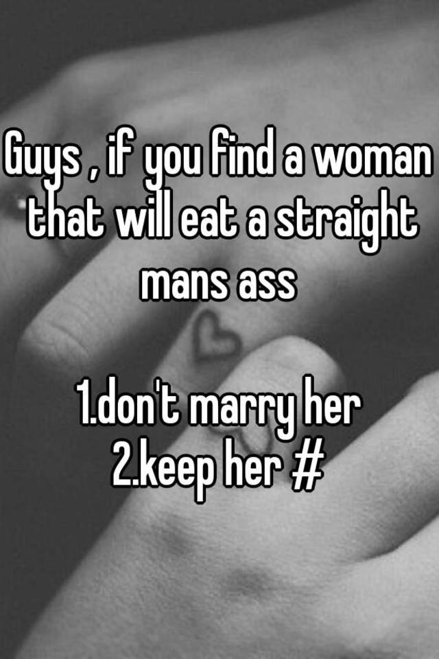 Women eat mans asshole