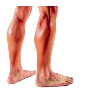 Her shaved leg