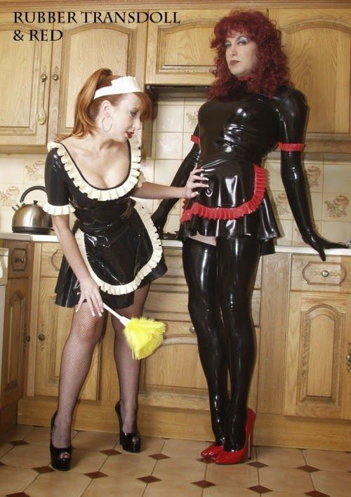 Sissy bondage maid can